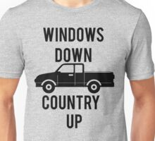 Windows Down Country Up Unisex T-Shirt