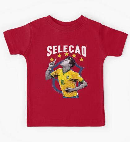 Neymar Brazil World Cup Shirt Kids Tee