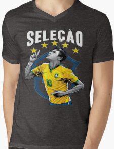 Neymar Brazil World Cup Shirt Mens V-Neck T-Shirt