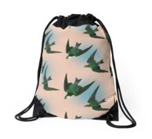 Migration Pattern Drawstring Bag