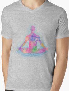 Meditation : just breath Mens V-Neck T-Shirt
