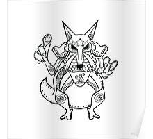 Kadabra de los Muertos | Pokemon & Day of The Dead Mashup Poster