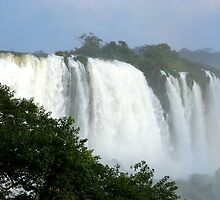 Iguassu Falls up close by Maggie Hegarty