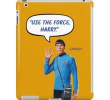 Use the force, Harry iPad Case/Skin