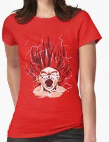 Super Saiyan God Goku Womens Fitted T-Shirt