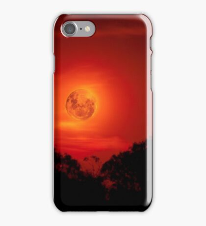 Fiery Blood Moon - Melbourne, Mt Dandenong, Victoria Australia iPhone Case/Skin