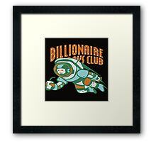 bbc and astronot Framed Print