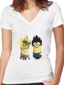G&V minions Women's Fitted V-Neck T-Shirt