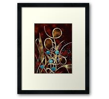 Gold Curly Plant Framed Print
