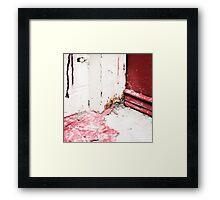 { Corners: where the walls meet #09 } Framed Print