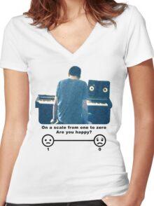 Bo Burnham Are You Happy? Women's Fitted V-Neck T-Shirt
