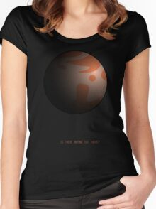 Is There Anyone Out There? - Life on Mars Women's Fitted Scoop T-Shirt