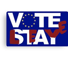 Vote to stay/leave Canvas Print