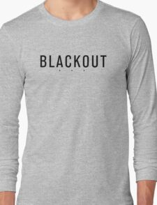 BLACKOUT black-on-black 3-dot logo Long Sleeve T-Shirt
