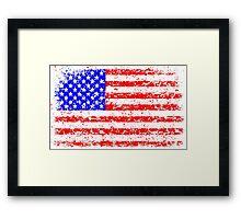 AMERICAN FLAG - VINTAGE Framed Print