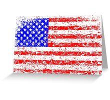 AMERICAN FLAG - VINTAGE Greeting Card