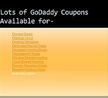 Godaddy Coupons | Godaddy Promo Codes by Domainhosting