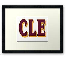 cleveland final 2016 - CLE Framed Print