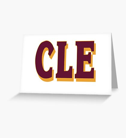 cleveland final 2016 - CLE Greeting Card