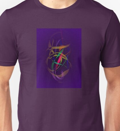 Colorful Cocoon in a Dark Purple Space Unisex T-Shirt