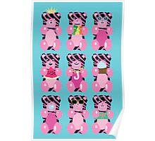 Zebra Print Gummy Bears Poster