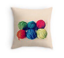 Yarn Throw Pillow