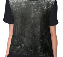 Snow Dusted Trees Chiffon Top