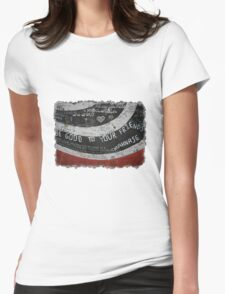 Elliott Smith Wall Womens Fitted T-Shirt
