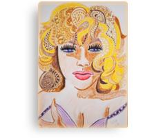 Lady Cornered  Canvas Print