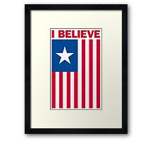 I Believe That We Will Win Framed Print