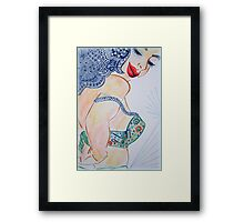 Casual Peek Framed Print