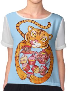 The Tiger Who Came To Tee Chiffon Top