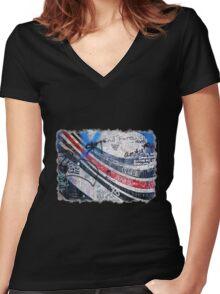 Elliott Smith Wall 2 Women's Fitted V-Neck T-Shirt