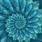Blue Fractal by Kitty Bitty