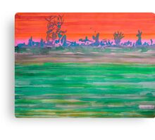 Landscape with Striped Field Canvas Print