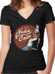 Nuka Cola Women's Fitted V-Neck T-Shirt