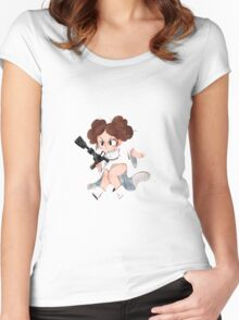Princess Space Buns Women's Fitted Scoop T-Shirt