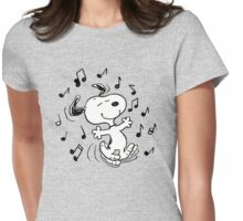 Dancing Snoopy Womens Fitted T-Shirt