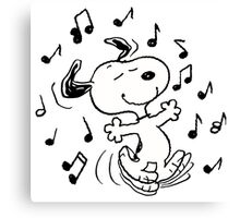 Dancing Snoopy Canvas Print