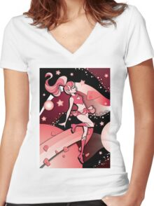 Into Your Galaxy Women's Fitted V-Neck T-Shirt