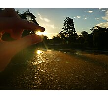 I have the sun in my hands... literally. Photographic Print