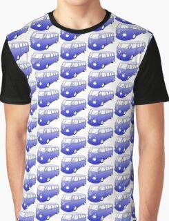 Blue VW Camper Graphic T-Shirt