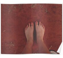 Bare Foot. Red Foot.  Poster