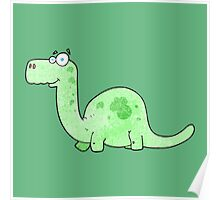 Long Neck Dinosaur Poster