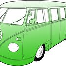 Green VW Camper by Colin Bentham