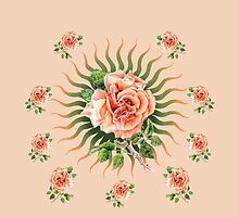 Rose Peach Flower Power by didielicious