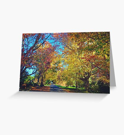 Autumn Colours, Crookwell NSW  Greeting Card