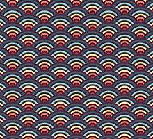 Rainbowaves Pattern (dark) by freshinkstain