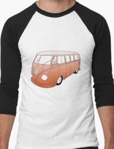 Orange VW Camper Men's Baseball ¾ T-Shirt