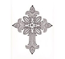 Tangled Ornate Cross Photographic Print